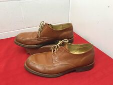 """Sandro Moscoloni """"Vineyard"""" Brown Leather Pebbled Split Toe Oxford Shoes 12 D"""