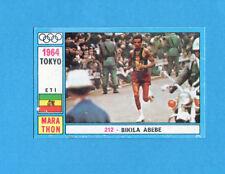 OLYMPIA-1972-PANINI-Figurina DA INCOLLARE! n.212- ABEBE BIKILA - ETIOPIA -Rec