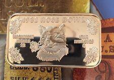 SM-10 ROSE BOWL 1982 Washington Huskies 999 SILVER BAR 1 Troy oz NCAA Football