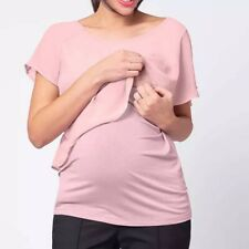 BNWT Maternity Nursing Breastfeeding Evening Going Out Smart Top Pink Size 16