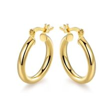 18K Gold Plated 15mm Hoop Earrings