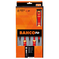Bahco Fit B220.005 5 Piece VDE Insulated Screwdriver Set Slotted & Phillips