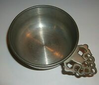 "Vintage Woodbury Pewter Porringer RH ATC Eagle Mark 5""L x 3 1/2""D x 1 1/4""H"