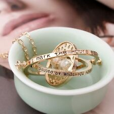 US Seller - NEW Harry Potter Time Turner Hermione Granger Rotating Necklace F/S