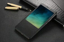 New-For Xiaomi Mi Max 2 Quick Window View Flip Smart PU Leather Case Stand Cover