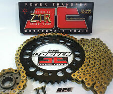 '04/05 CBR1000rr JT GOLD Z1R 520 X-RING CHAIN AND SPROCKETS KIT *OEM,QA or Fwy