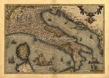 Large A1 30x23 inch Ortelius Italy Italian Italiana Reproduction Old Antique Map