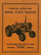 ALLIS Chalmers TRATTORE D272 operatori manuale