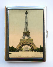 Eiffel Tower Cigarette Case Wallet Business Card Holder victorian Paris