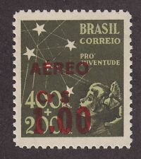 Brazil San 89a MNH. 1944 1cr on 400r + 200r Air Post, Red Surcharge ERROR