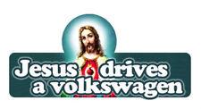 JESUS CONDUIT une VW Autocollant/Autocollant VOLKSWAGEN 150 mm