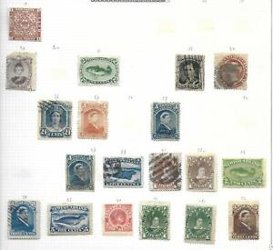 Newfoundland stamps Collection of 19 CLASSIC stamps HIGH VALUE!