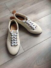 Pantofola D'oro Sneaker 39 Läufer CANVA Leder Beige Qualität Ledersohle Noppen
