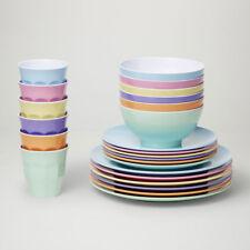 Barel Designs Classic Melamine 48 Piece Dream Dinner Set - Cups, Bowls, Plates