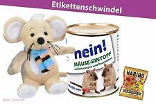 Konserven Dose Überraschung Geburtstag Maus Stofftier Plüsch Plüschtier Gag -