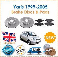 für Yaris 1.0 1999-2005 VNK Code vorne Belüftete Bremsscheiben+Bremsbeläge Set