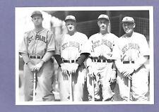 1936--ST. PAUL SAINTS (NORMAN-WASHINGTON-McCULLOCH-MOWRY)--5x7 PHOTO--XLNT