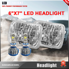 2X H4 LED Light Bulbs 7x6 Square Headlight 6000K Super White Fit Renault Fuego
