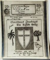 1943 ILLUSTRATED 8TH ARMY CHRISTMAS AIRGRAPH ROYAL ARMY MEDICAL CORPS SURGICAL