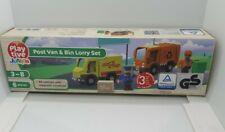 Playtive Junior Wooden Post Van Bin Lorry Set for Wooden Rail Train & Road Sets