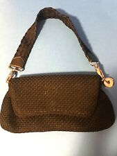 THE SAK BLACK WOVEN FABRIC EVENING BAG CONVERT TO CLUTCH ,HAND BAG MINT