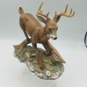 HOMCO Masterpiece Porcelain Deer 1986