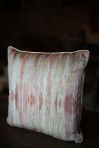 Wild Fire Patterned Velvet cushions made by TallBoy Interiors, home decor
