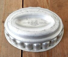 Vintage 1950s British Made Diamond Pure Aluminium Jelly Pudding Mould