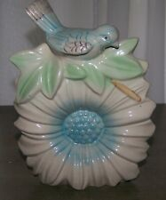 VINTAGE MC COY POTTERY FLOWER BIRD WALL POCKET PLANTER