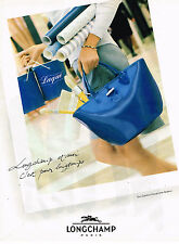 PUBLICITE ADVERTISING 025  1997  LONGCHAMP   sac collection  ROSEAU
