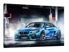 BMW M3 - 30x20 Inch Canvas - Modern Framed Picture Print Wall Art