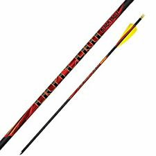 """Black Eagle Outlaw Feather Fletched Arrows - .005"""" 6 Pack - 500"""