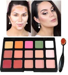 Contour Face Makeup Concealer Camouflage Neutral Palette Kit Set With Brush S2
