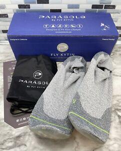 Parasole 2.0 Men's US Size 14 Fly Kytin Socks Fog City 2 Tone Grey/Neon Green
