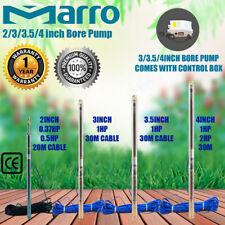 MARRO 2/3/3.5/4 INCH STAINLESS STEEL DEEP WELL WATER PUMP 0.37/0.5/1/1.5/2HP