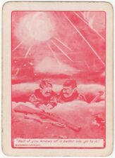 Playing Cards Swap Card Old Antique Wide Bairnsfather WW1 OLD BILL BETTER OLE 11