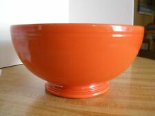 Vintage Fiesta Ware Fiestaware Red Footed Salad Bowl Homer Laughlin Punch Bowl