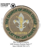 """Boy Scout: LDS Scouter 3"""" Position Patch (Mormon BSA) (Private Issue)"""