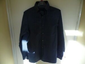 Gents Blue Long Sleeve, Button Up Shirt with Button Down Collar from Next size S