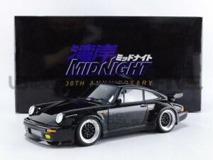 AUTOart 1/18 - PORSCHE 911 / 930 TURBO - WANGAN MIDNIGHT BLACK BIRD - 78157