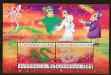 Christmas Island 2000 Year of the Snake Miniature Sheet Mint Unhinged