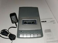 RCA RP3504-A Cassette Deck Shoebox Voice Recorder Player W/Ac Adapter TESTED i36