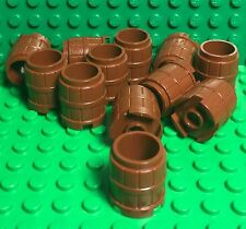 Lego X12 Pieces New Reddish Brown Small Barrel container 2 x 2 x 1.667 (#2489)