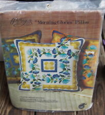 Vintage Paragon Morning Glories Flowers Pillow Kit Nos Sealed Crewel Embroidery