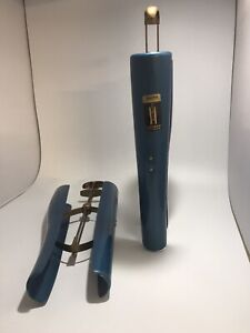 Pair of Vintage Dasco Tall Boot Stretcher Shapers/Trees Blue  + Gold