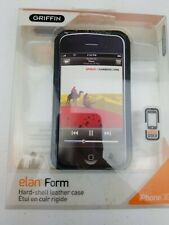 Griffin Black Leather Easy Dock Case Cover for iPhone 3G 3Gs Screen Protector