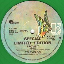 Television Prove It , Venus Limited Edition 1977 GREEN VINYL Uk 12""