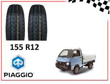 2 PNEUMATICI GOMME COPERTONI PER PIAGGIO QUARGO 500 - 750 155 R12 8PR 88/86R