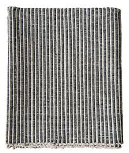 Creative Co-Op DA9922 Black & White Cotton Striped Dhurrie Rug 3' x 5'