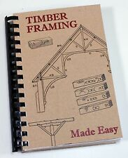 1908 TIMBER FRAME BOOK LOG BUILDING PLANS HOME CABIN DRAWKNIFE SAW CHISEL SCRIBE